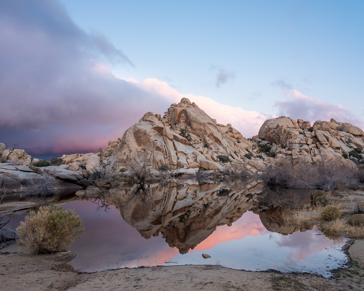 Sunrise at Barker Dam, Joshua Tree National Park